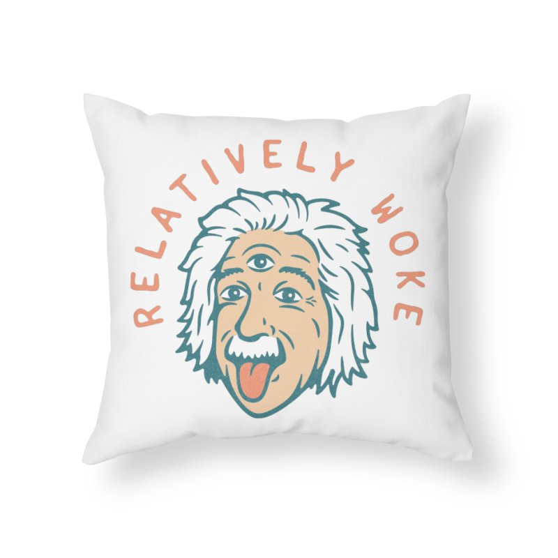 Relativity Home Throw Pillow by csw