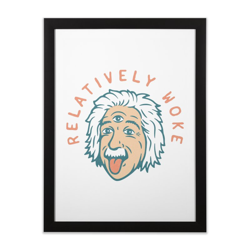 Relativity Home Framed Fine Art Print by csw