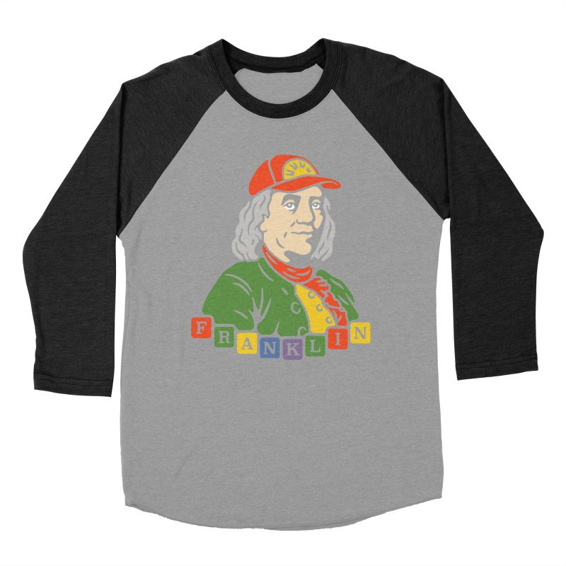 Benjamin Franklin Men's Baseball Triblend T-Shirt by csw