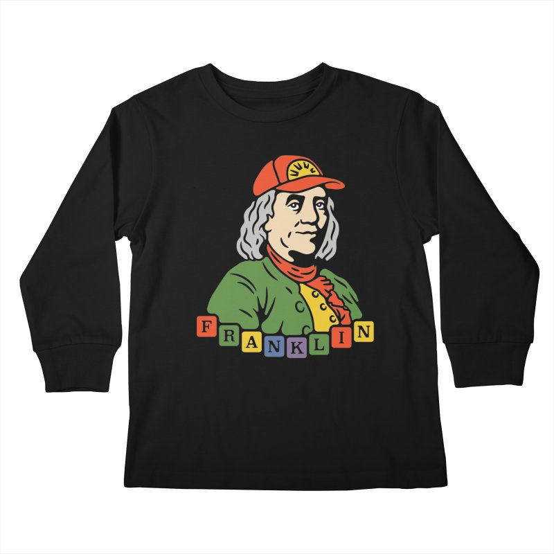 Benjamin Franklin Kids Longsleeve T-Shirt by csw