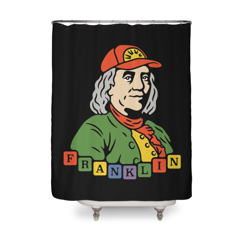 Benjamin Franklin Home Shower Curtain by csw