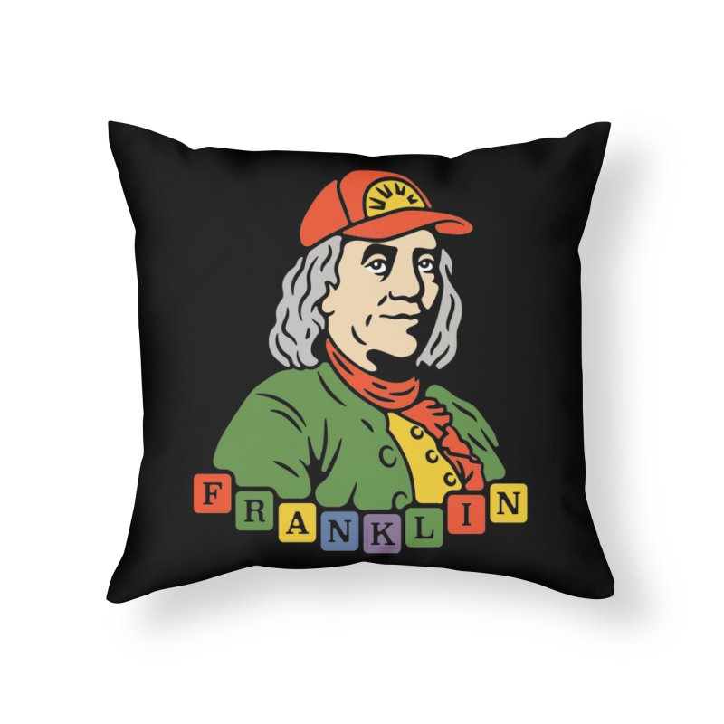 Benjamin Franklin Home Throw Pillow by csw