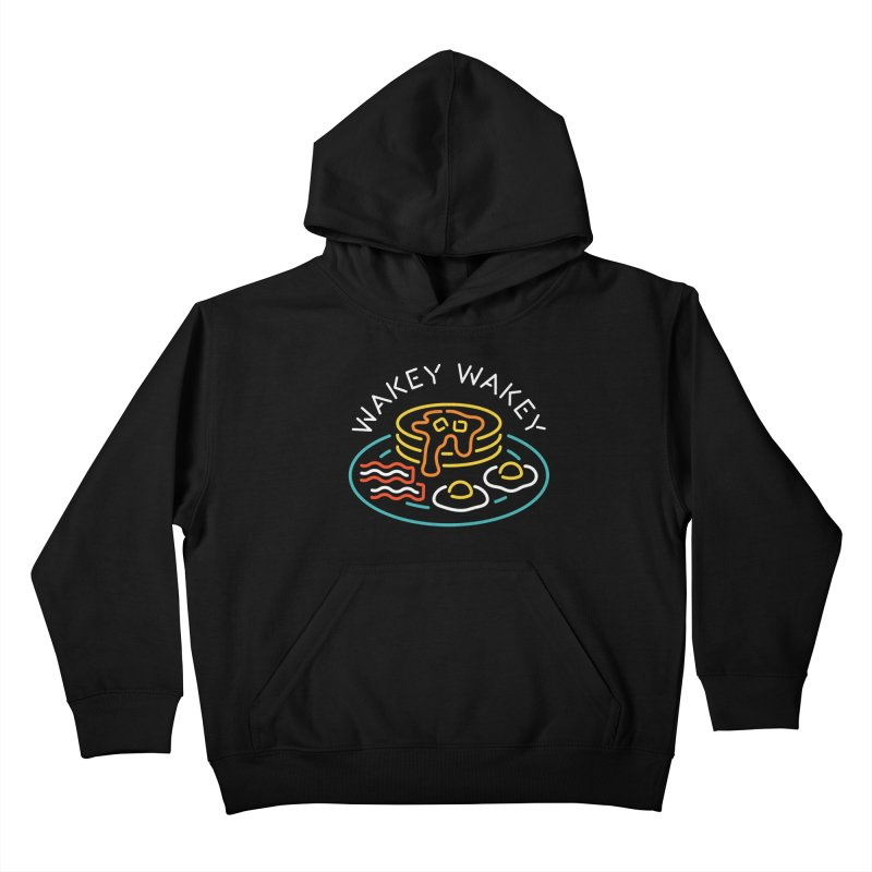 Wakey Wakey Kids Pullover Hoody by csw