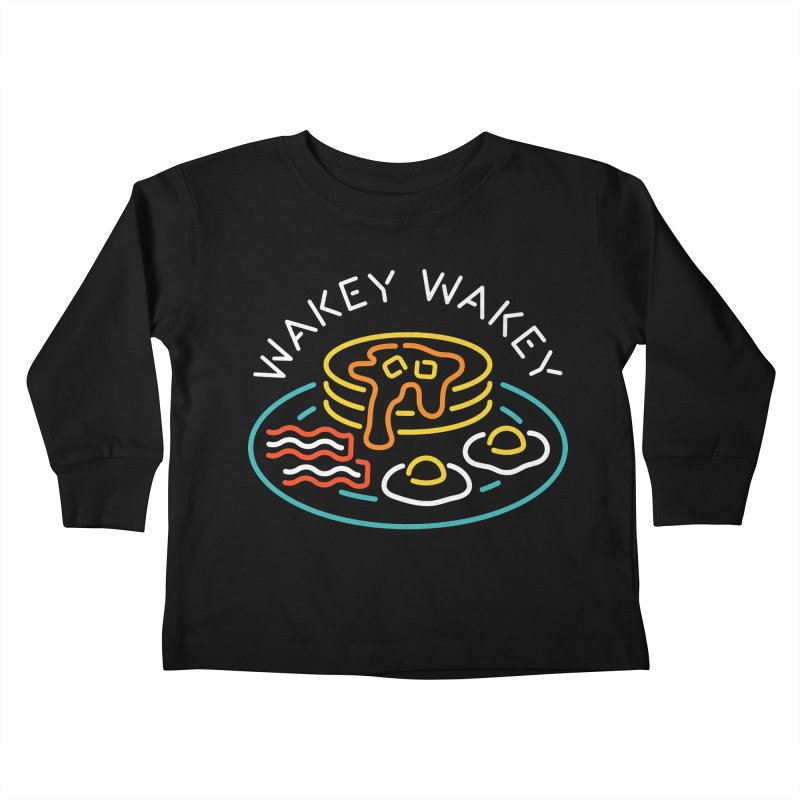 Wakey Wakey Kids Toddler Longsleeve T-Shirt by csw
