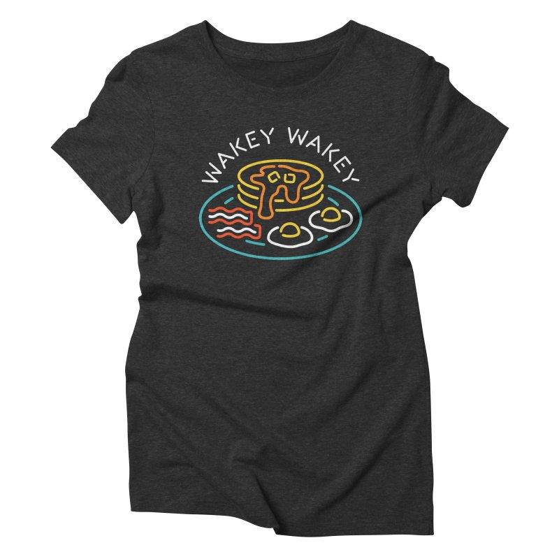 Wakey Wakey Women's Triblend T-Shirt by csw