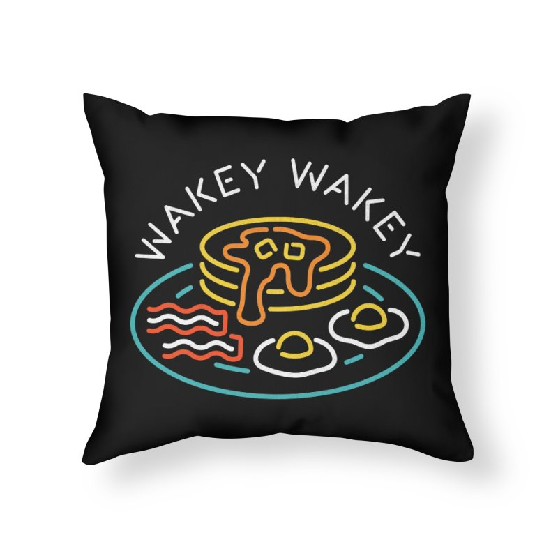Wakey Wakey Home Throw Pillow by csw