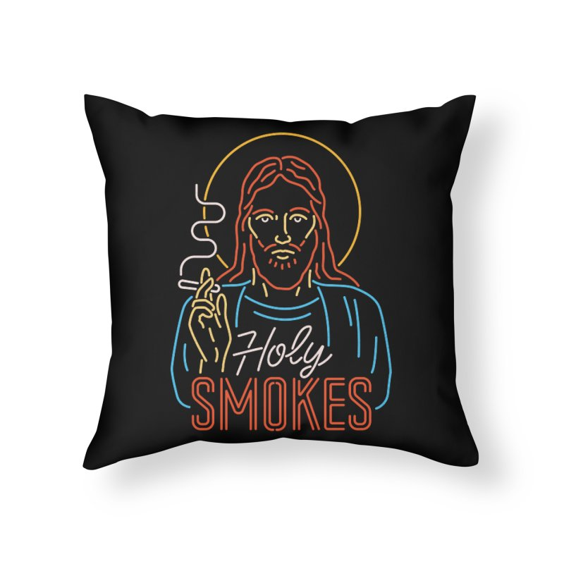 Holy Smokes Home Throw Pillow by csw