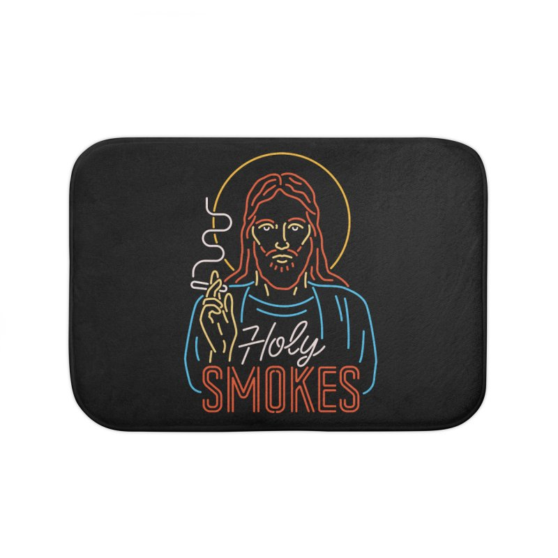 Holy Smokes Home Bath Mat by csw