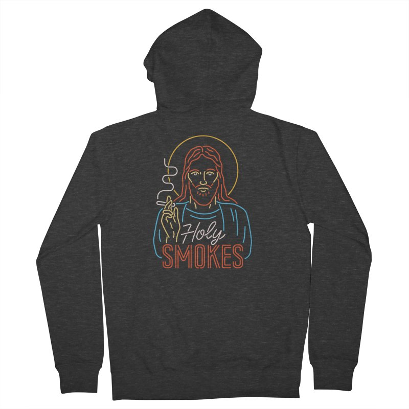 Holy Smokes Men's Zip-Up Hoody by csw