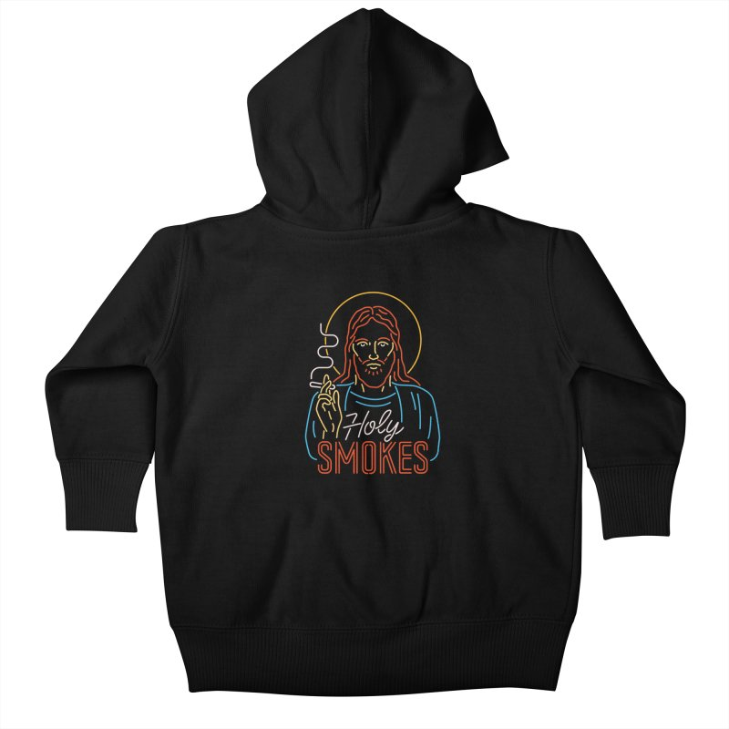 Holy Smokes Kids Baby Zip-Up Hoody by csw