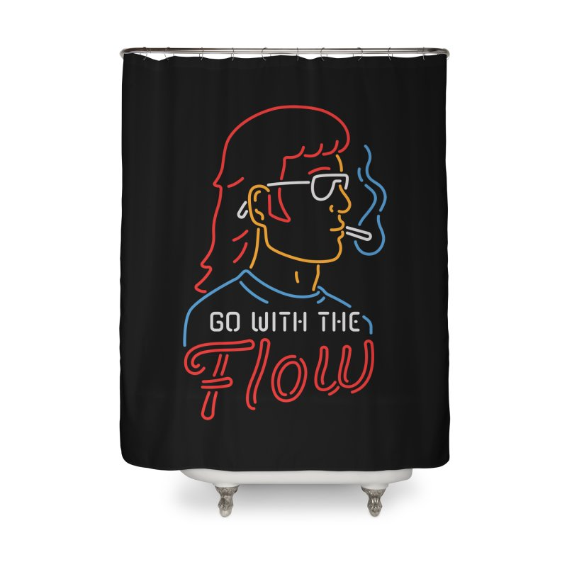 Go with the Flow Home Shower Curtain by csw