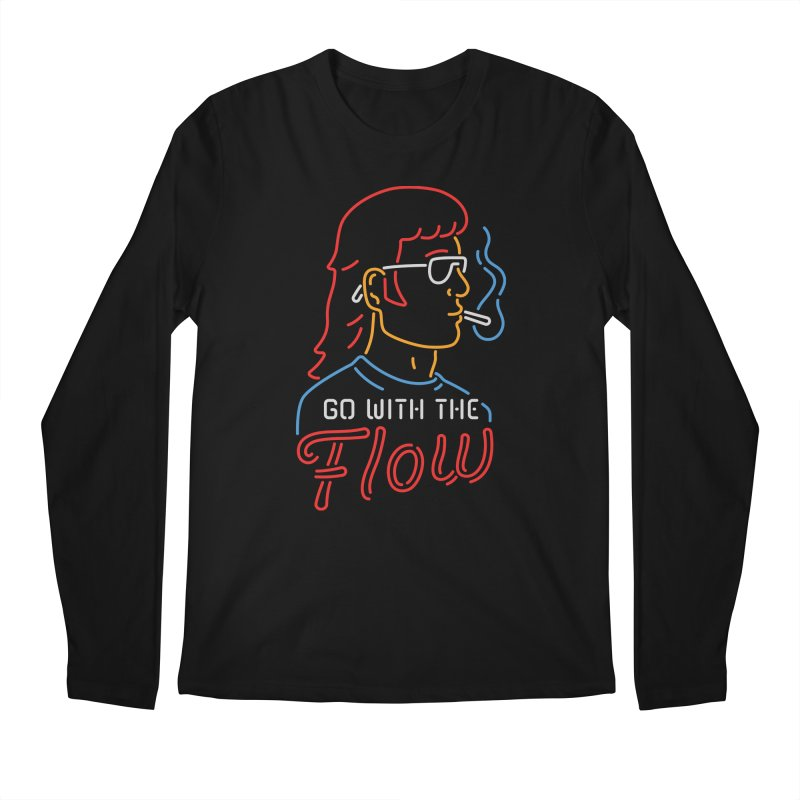 Go with the Flow Men's Longsleeve T-Shirt by csw