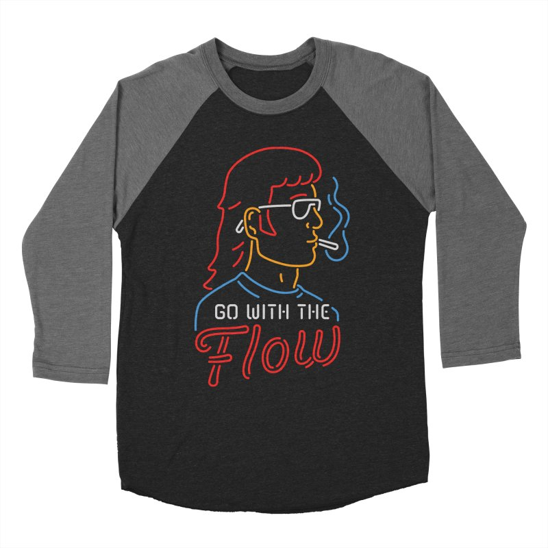 Go with the Flow Women's Baseball Triblend T-Shirt by csw