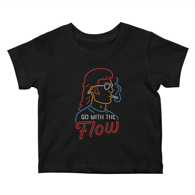 Go with the Flow Kids Baby T-Shirt by csw