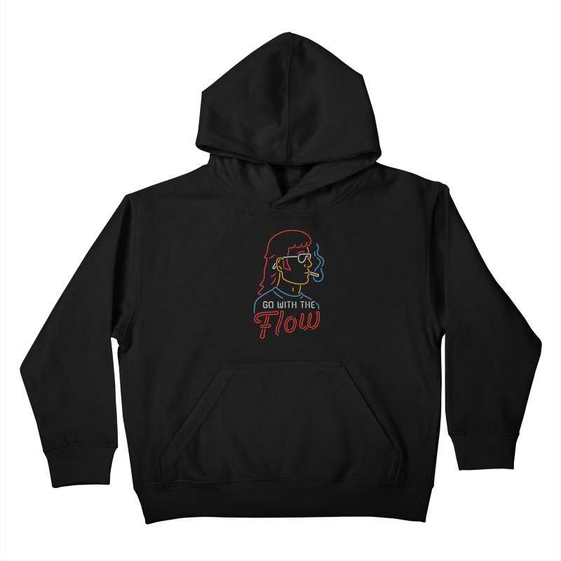 Go with the Flow Kids Pullover Hoody by csw
