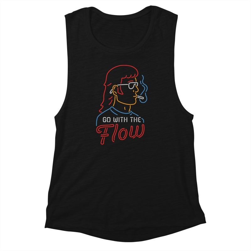 Go with the Flow Women's Muscle Tank by csw