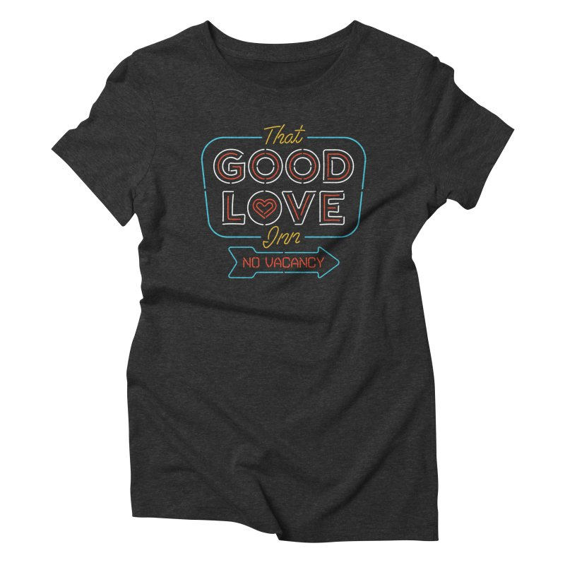 Good Love in Women's Triblend T-Shirt Heather Onyx by csw