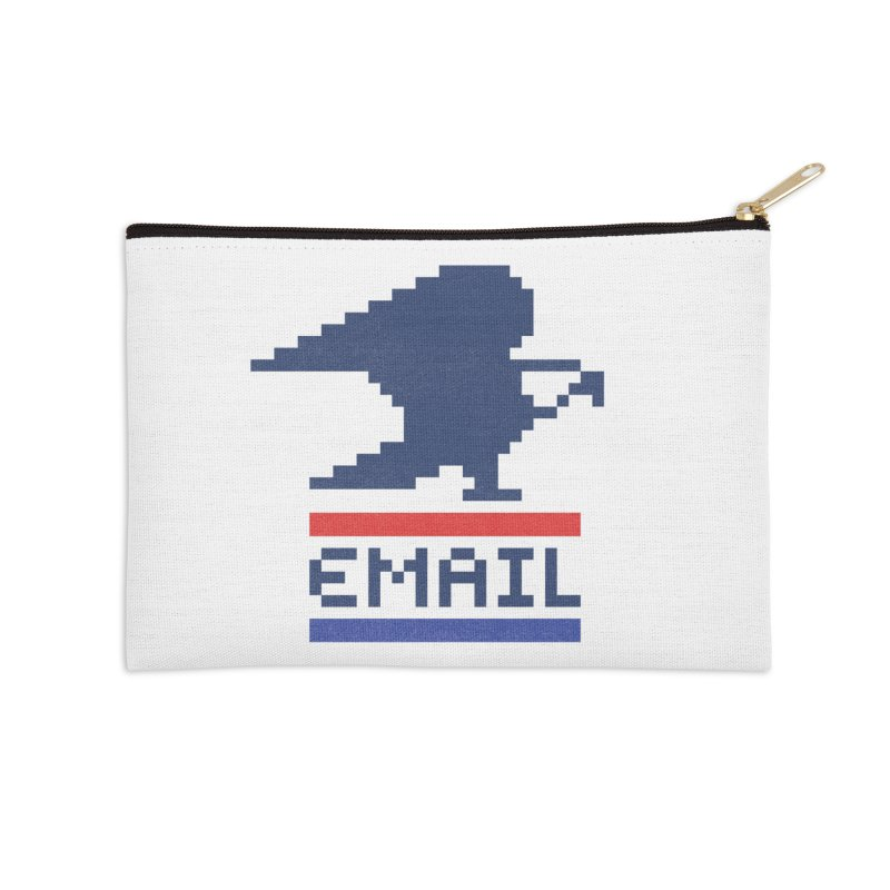 Email Accessories Zip Pouch by csw