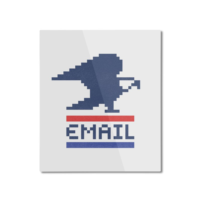 Email Home Mounted Aluminum Print by csw