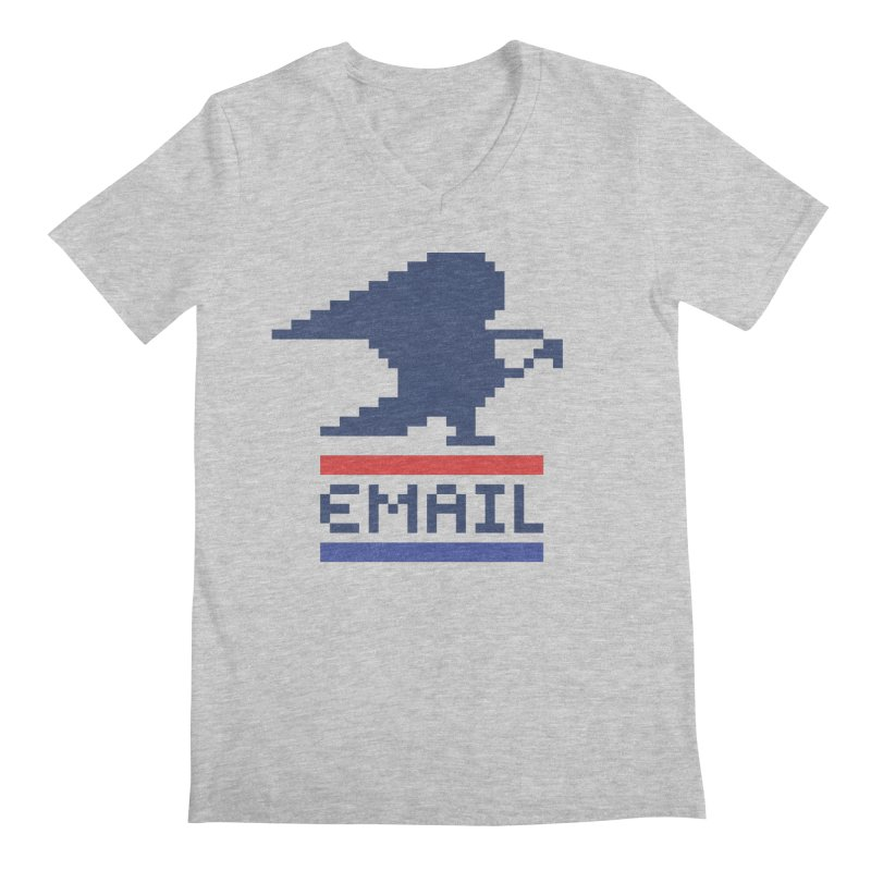 Email Men's Regular V-Neck by csw