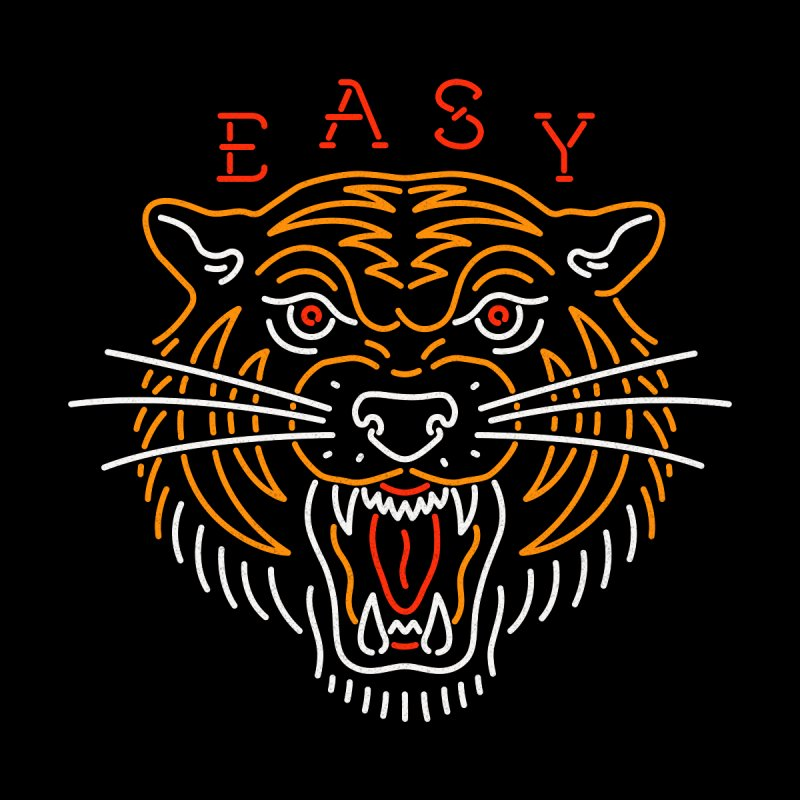 Easy, Tiger Home Fine Art Print by Cody Weiler