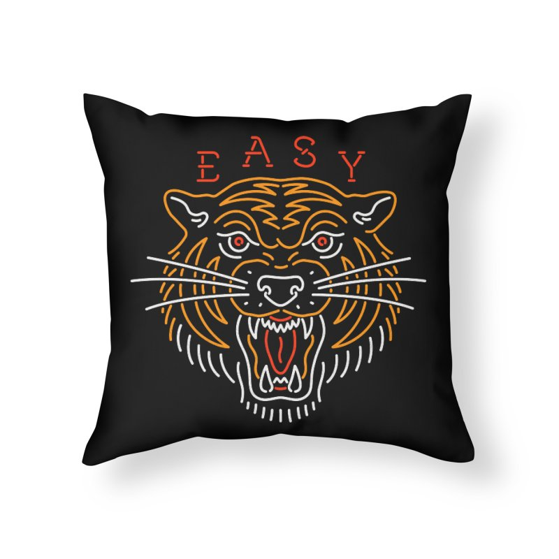 Easy, Tiger Home Throw Pillow by csw