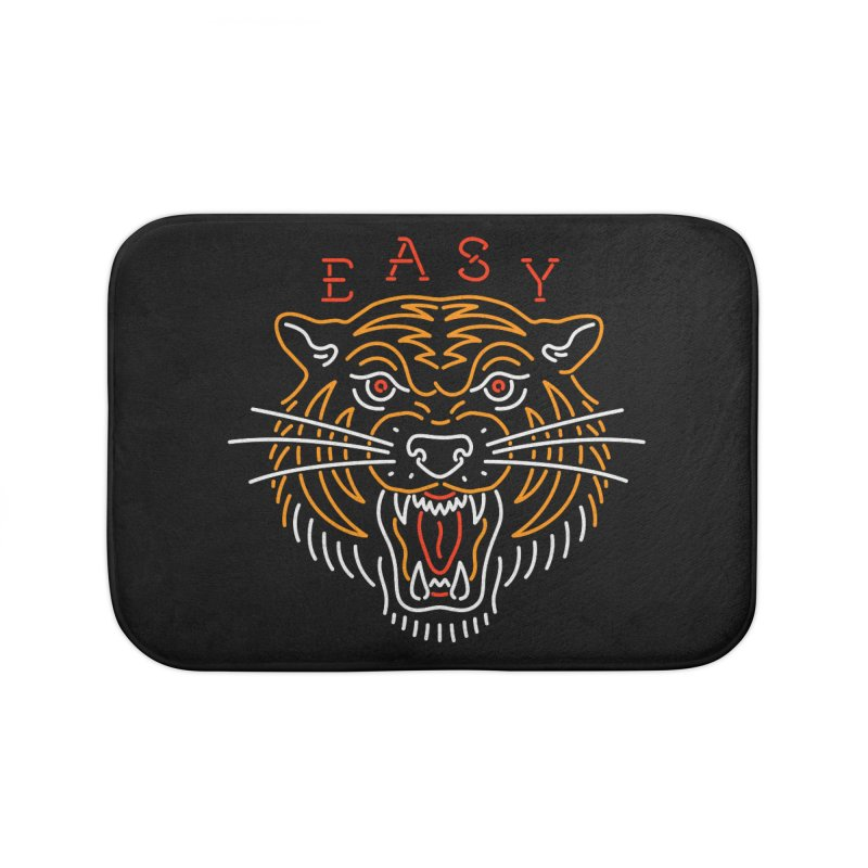 Easy, Tiger Home Bath Mat by csw
