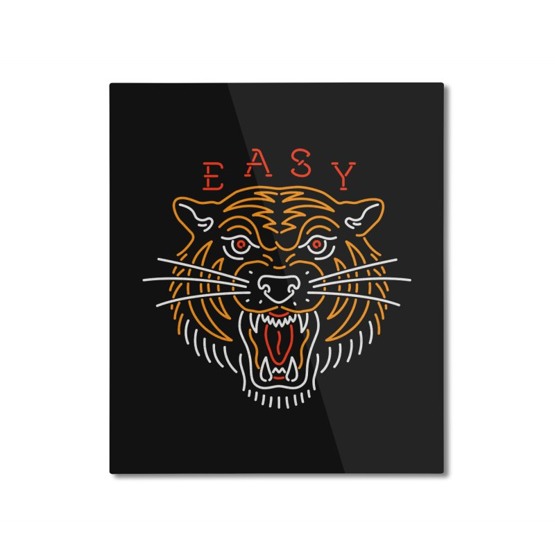 Easy, Tiger Home Mounted Aluminum Print by csw
