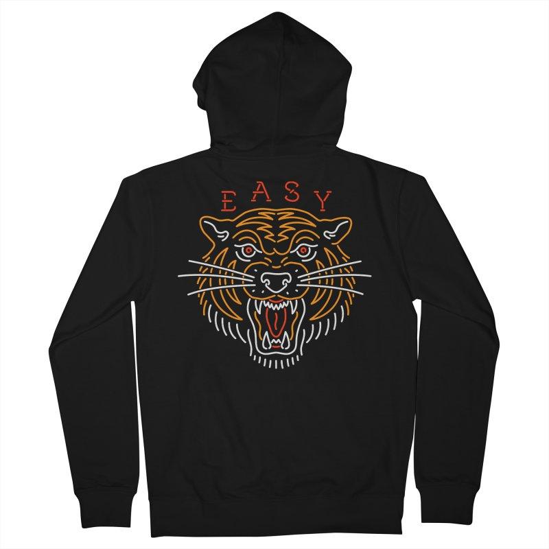 Easy, Tiger Men's Zip-Up Hoody by csw