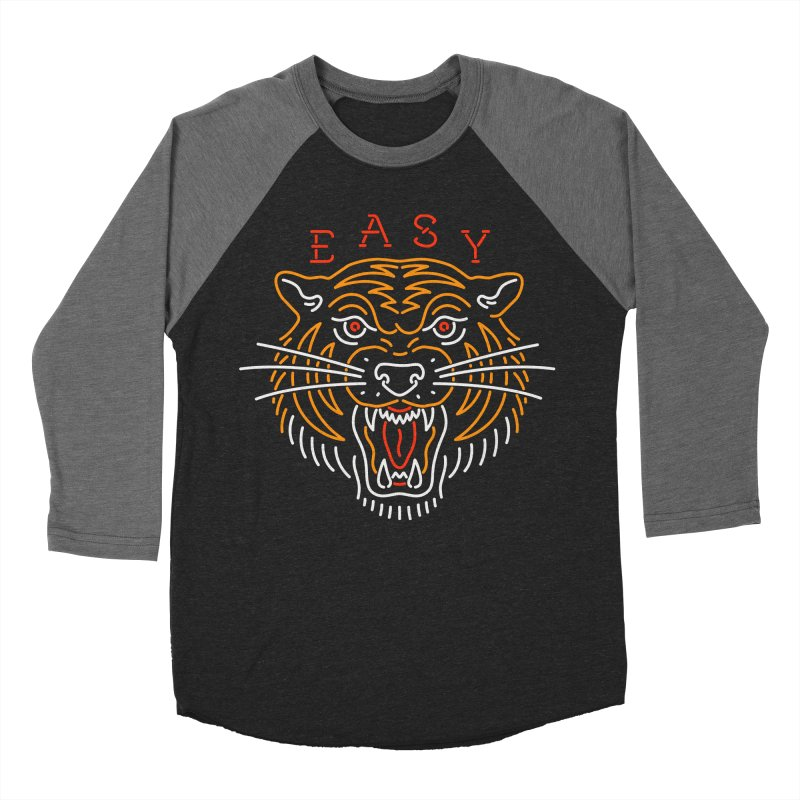 Easy, Tiger Men's Baseball Triblend Longsleeve T-Shirt by csw