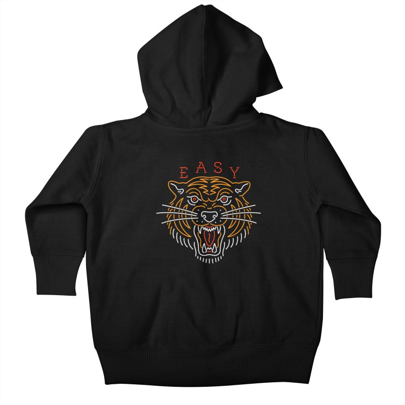Easy, Tiger Kids Baby Zip-Up Hoody by csw