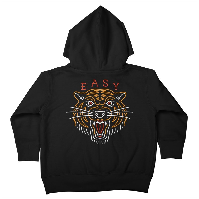 Easy, Tiger Kids Toddler Zip-Up Hoody by csw