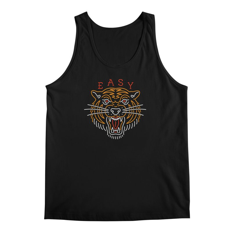 Easy, Tiger Men's Tank by csw