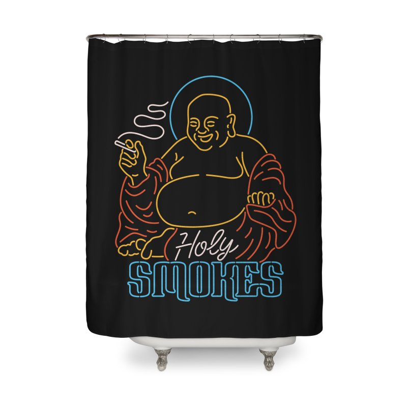 Holy Smokes II Home Shower Curtain by csw