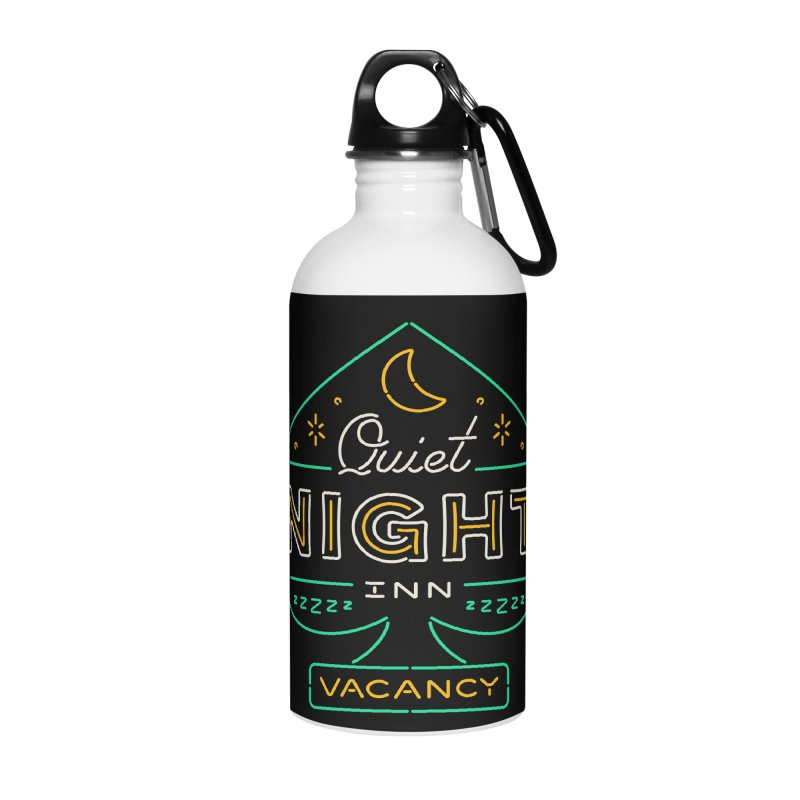 Quiet Night Inn Accessories Water Bottle by csw
