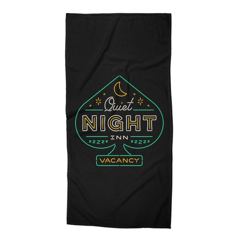 Quiet Night Inn Accessories Beach Towel by csw