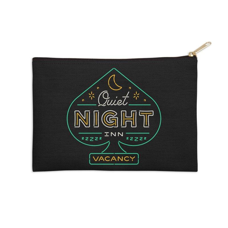 Quiet Night Inn Accessories Zip Pouch by csw