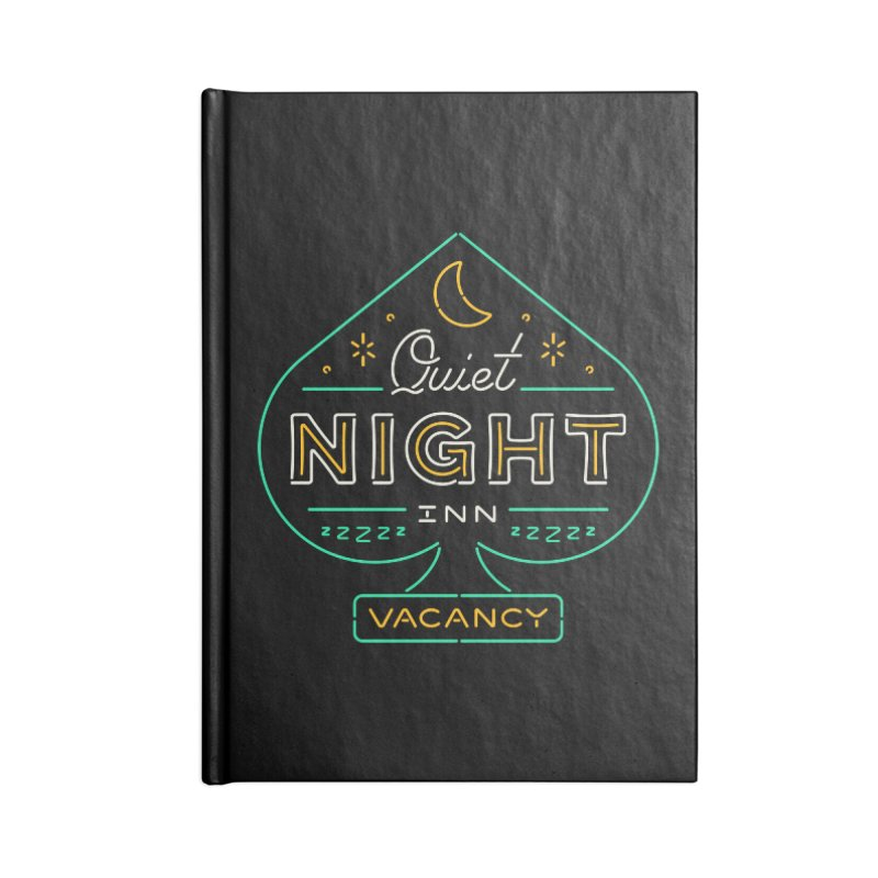 Quiet Night Inn Accessories Notebook by csw