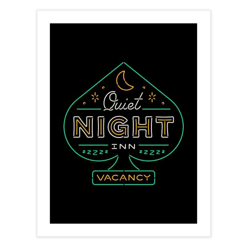 Quiet Night Inn Home Fine Art Print by csw