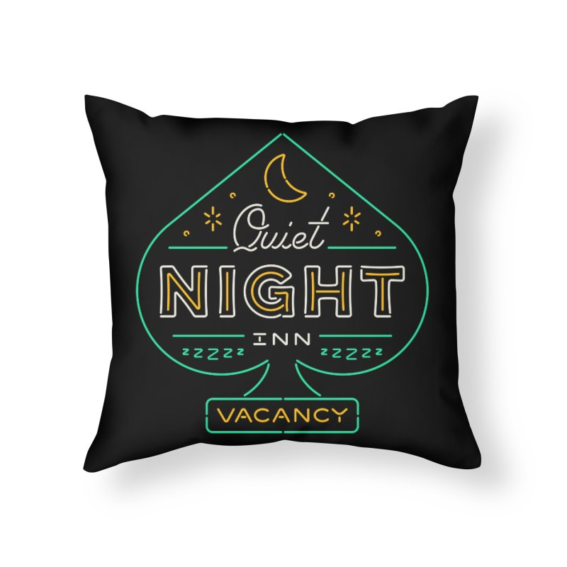 Quiet Night Inn Home Throw Pillow by csw