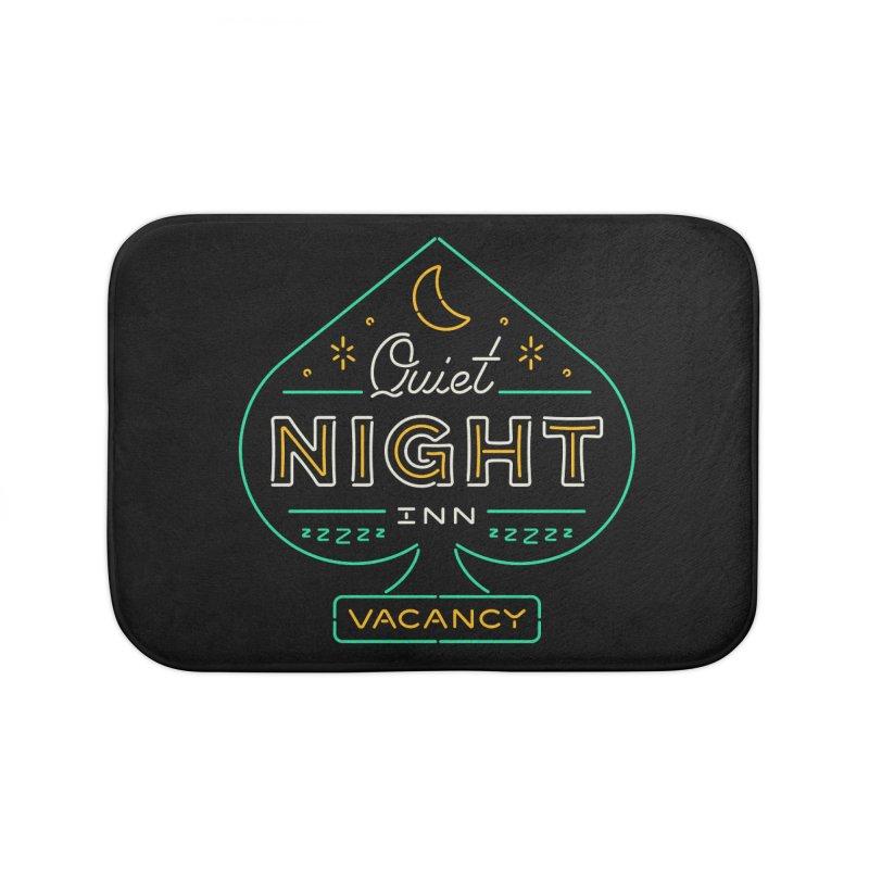 Quiet Night Inn Home Bath Mat by csw