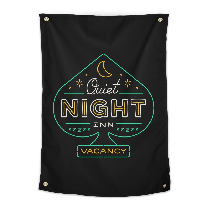 Quiet Night Inn Home Tapestry by csw