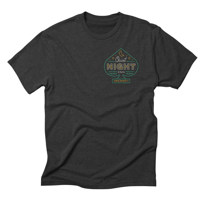 Quiet Night Inn Men's Triblend T-Shirt by csw