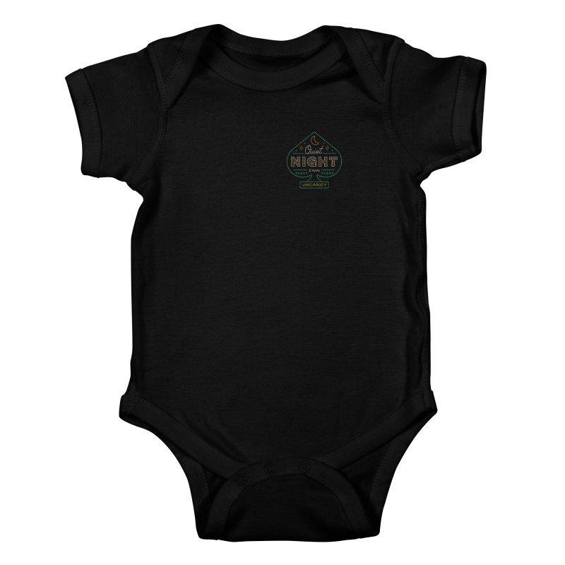 Quiet Night Inn Kids Baby Bodysuit by csw