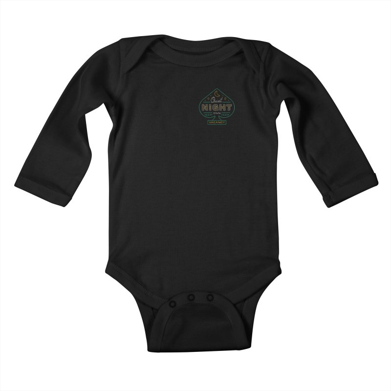 Quiet Night Inn Kids Baby Longsleeve Bodysuit by csw