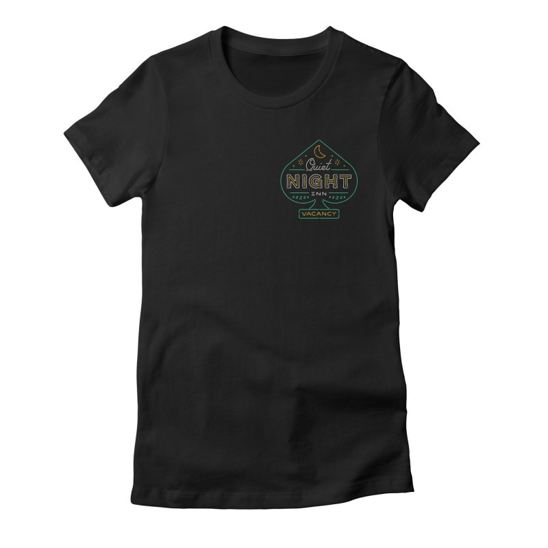 Quiet Night Inn Women's Fitted T-Shirt by csw