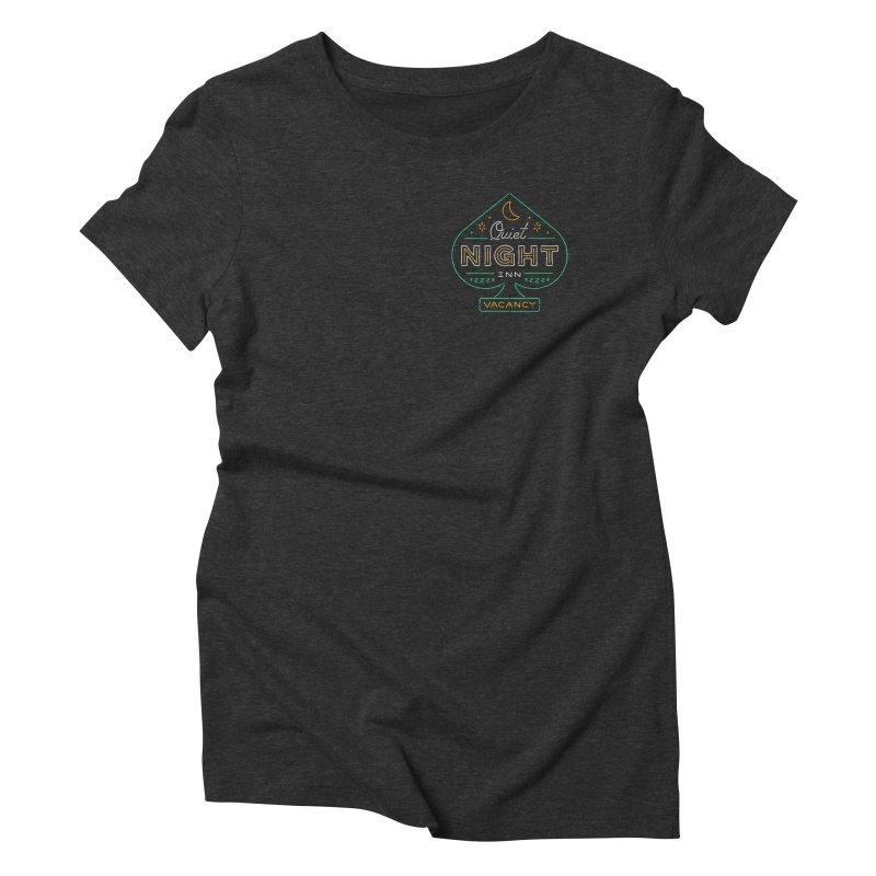 Quiet Night Inn Women's Triblend T-Shirt by csw