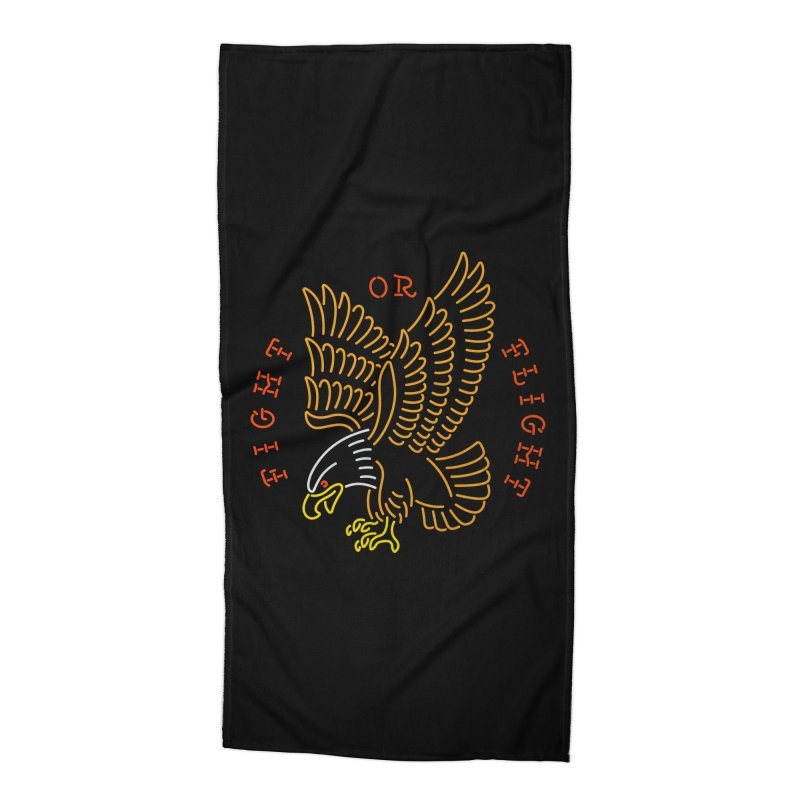 Fight or Flight Accessories Beach Towel by csw