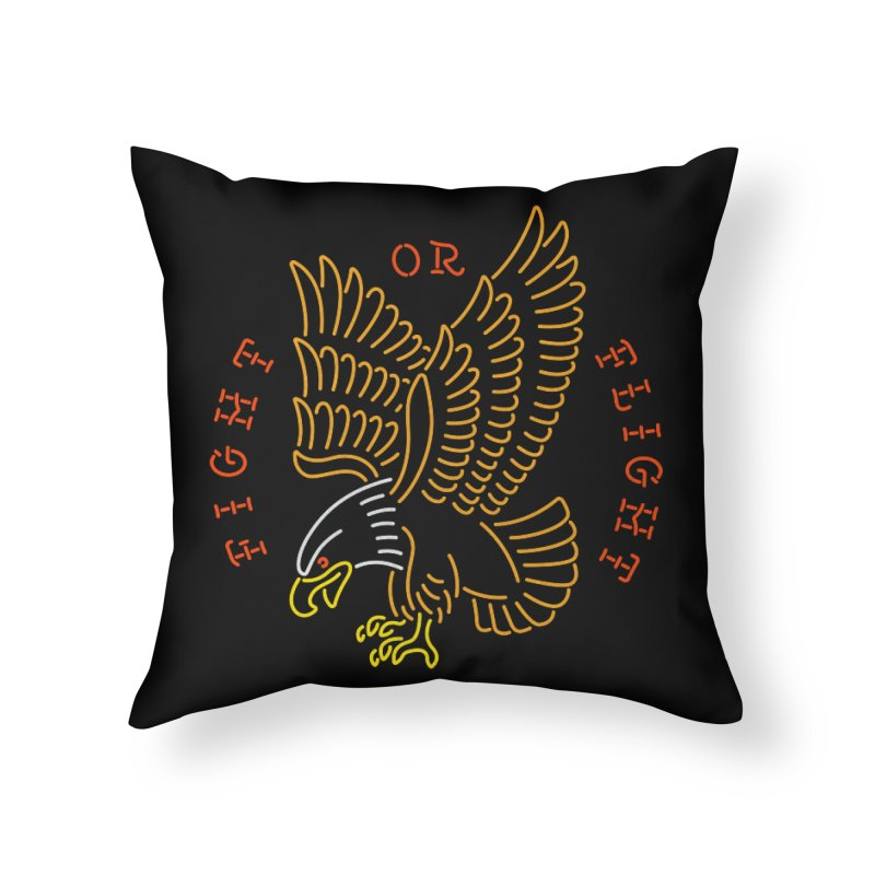 Fight or Flight Home Throw Pillow by csw