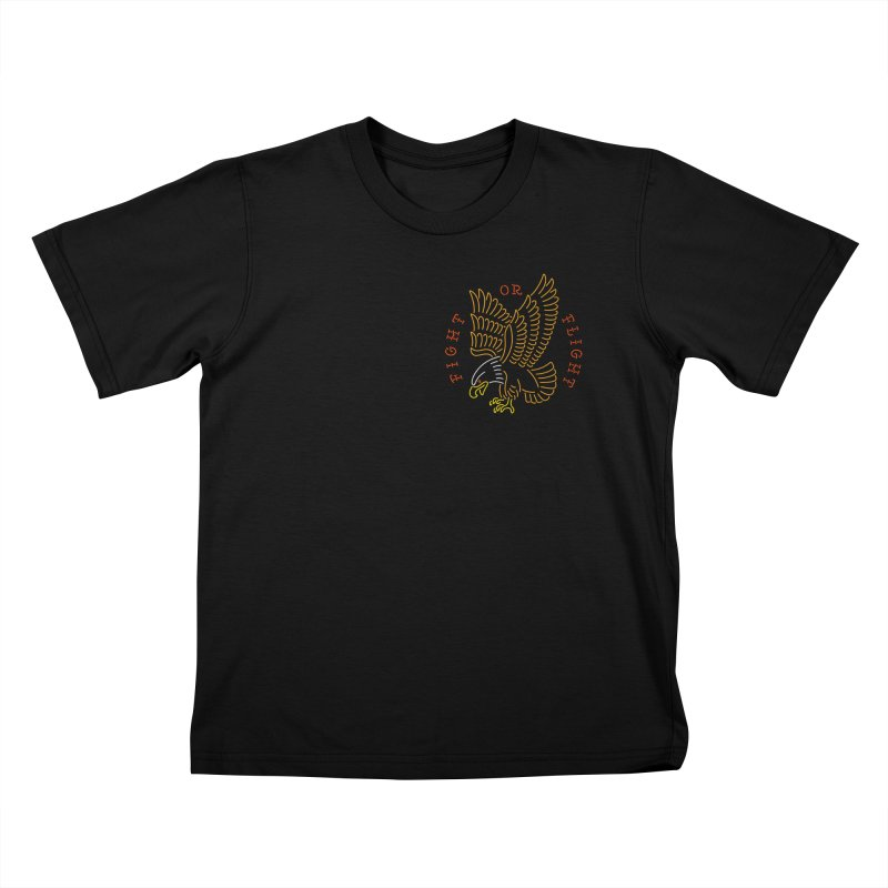 Fight or Flight Kids T-Shirt by Cody Weiler